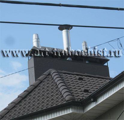 Монтаж дымоходов в коттеджей прочистка дымоходов казань